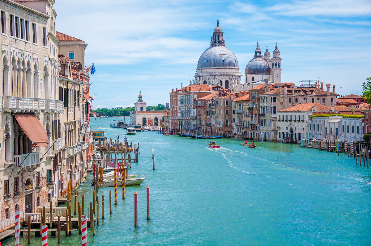 The Grand Canal seen from the Accademia Bridge - Venice, Italy - rossiwrites.com